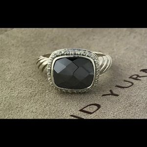 David Yurman Noblesse Hematite Diamond Ring